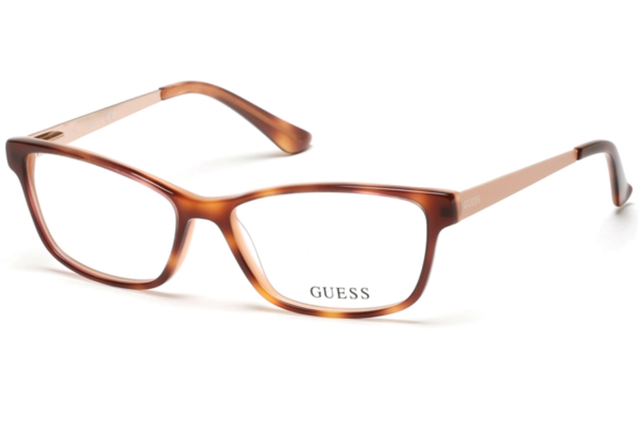 Guess GU 2538 Eyeglasses in 055 - Coloured Havana
