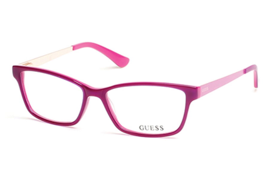 Guess GU 2538 Eyeglasses in 075 Shiny Fuxia