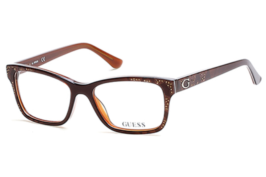 Guess GU 2553 Eyeglasses in 050 - Dark Brown/Other