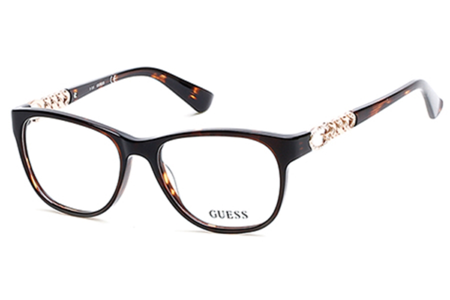 Guess GU 2559 Eyeglasses in 050 - Dark Brown/Other