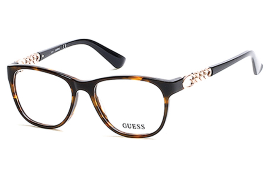 Guess GU 2559 Eyeglasses in 052 - Dark Havana