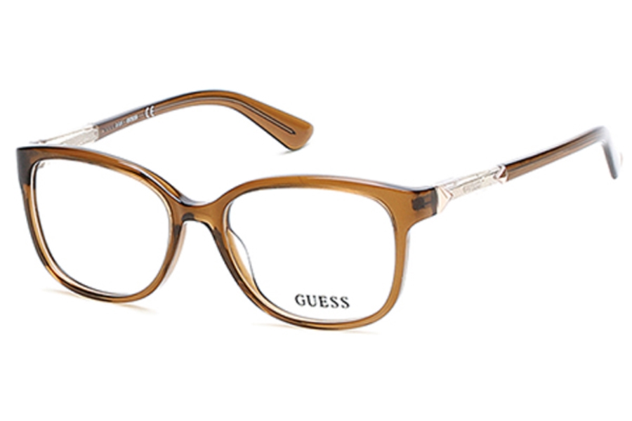 Guess GU 2560 Eyeglasses in 045 - Shiny Light Brown