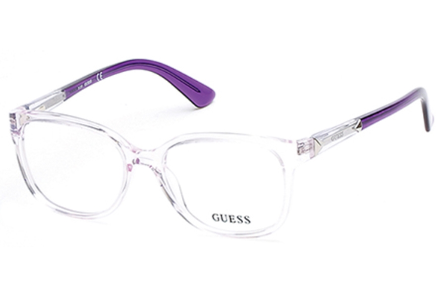 Guess GU 2560 Eyeglasses in 078 - Shiny Lilac