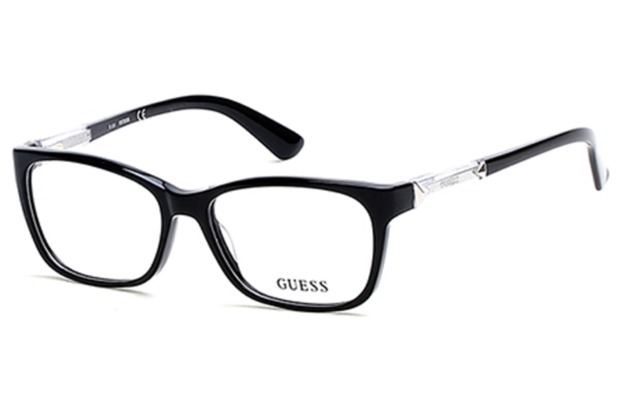 Guess GU 2561 Eyeglasses in 001 - Shiny Black