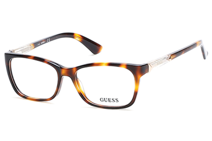 Guess GU 2561 Eyeglasses in 052 - Dark Havana