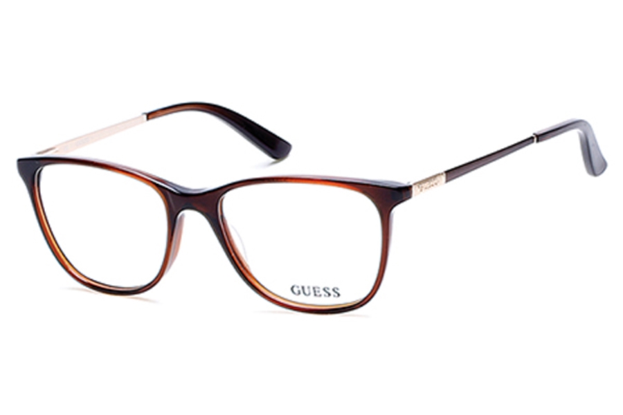 Guess GU 2566 Eyeglasses in 050 - Dark Brown/Other (Discontinued)