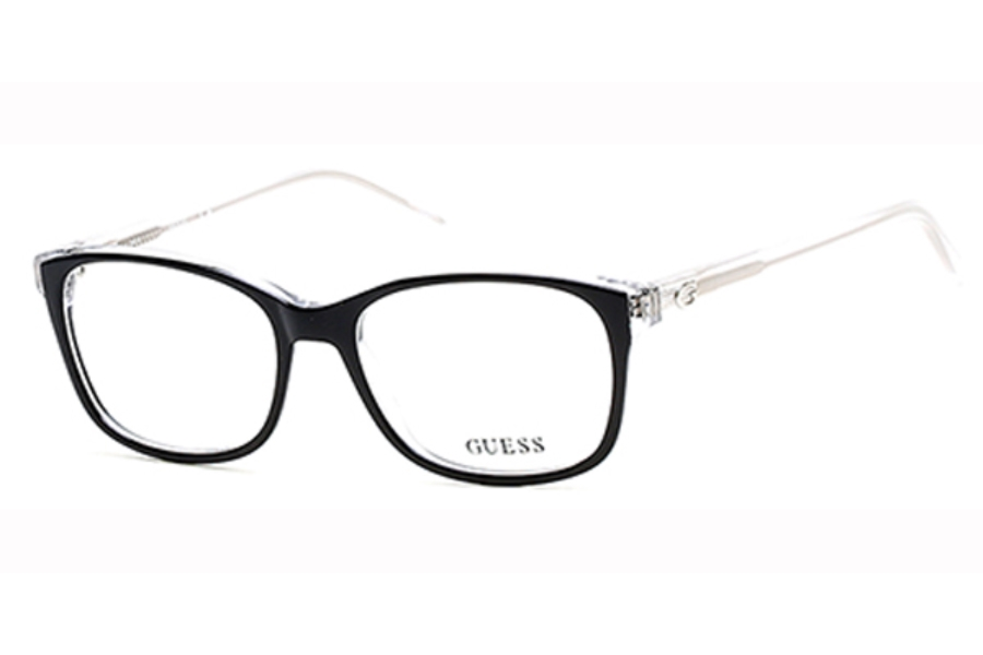 Guess GU 2582 Eyeglasses in 003 - Black/Crystal