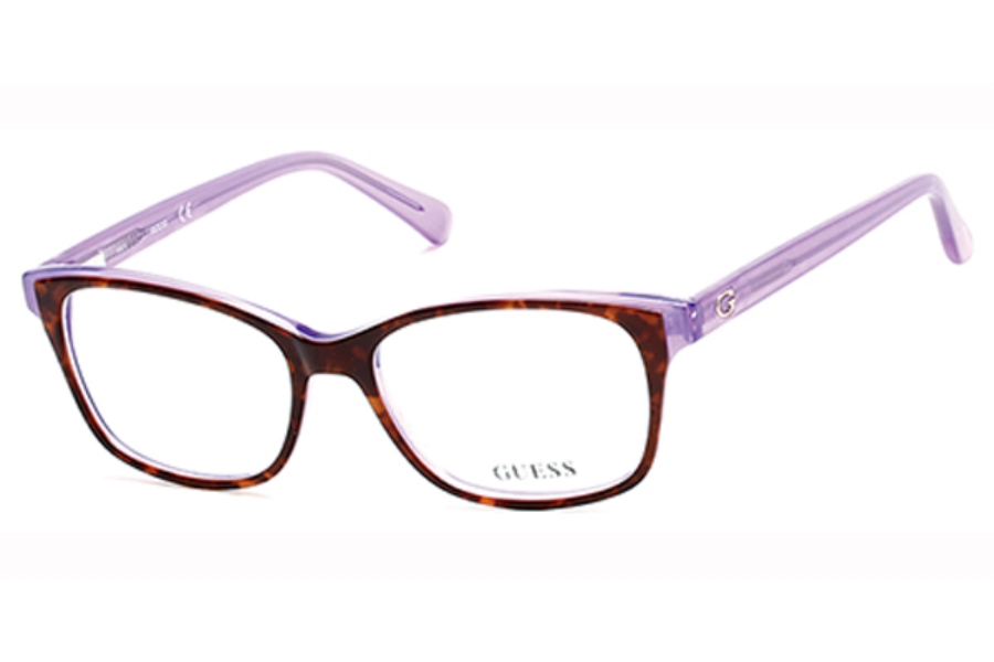 Guess GU 2582 Eyeglasses in 052 - Dark Havana