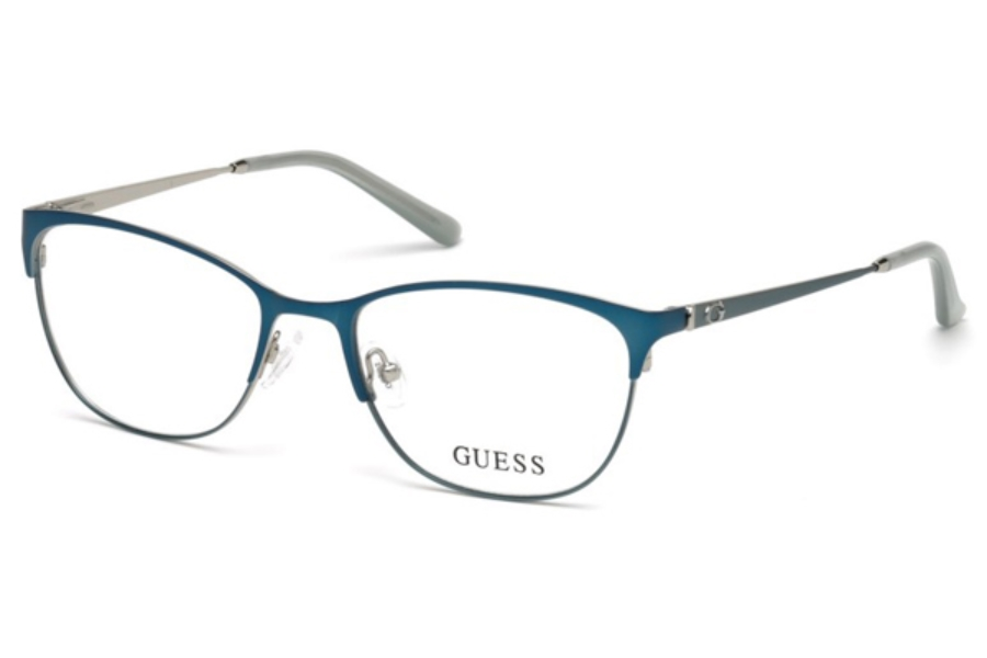 Guess GU 2583 Eyeglasses in 088 - Matte Turquoise