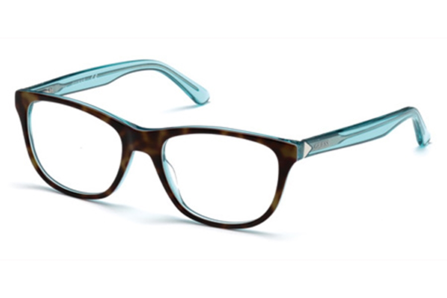 Guess GU 2585 Eyeglasses in 056 - Havana/Other