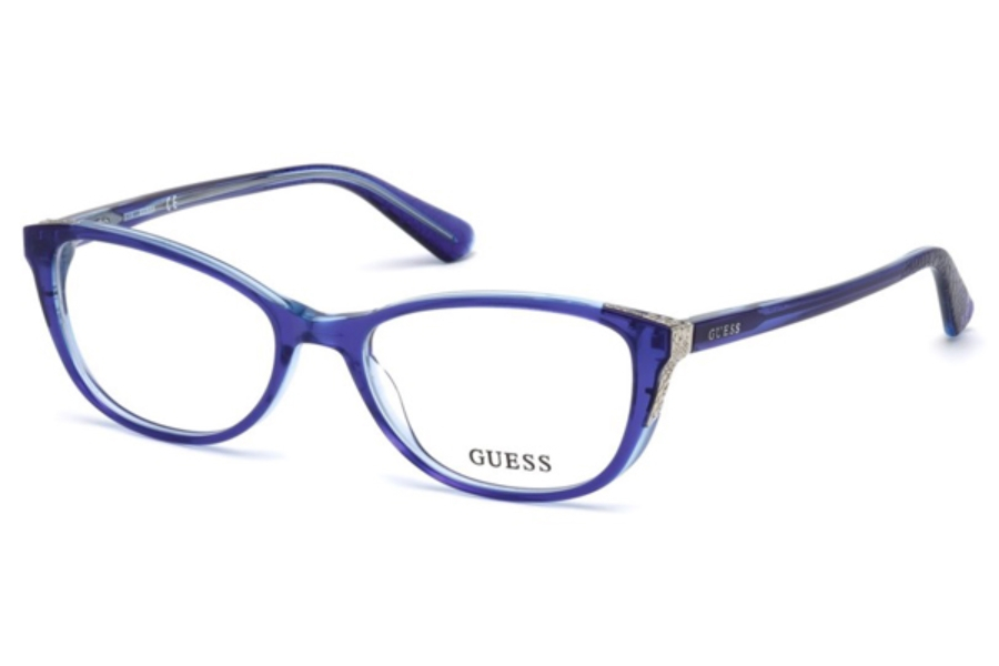 Guess GU 2589 Eyeglasses in 092 - Blue/Other