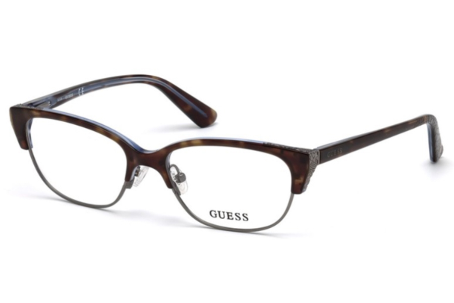 Guess GU 2590 Eyeglasses in 056 - Havana/Other