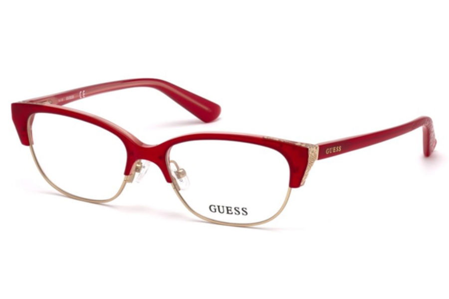 Guess GU 2590 Eyeglasses in 068 - Red/Other