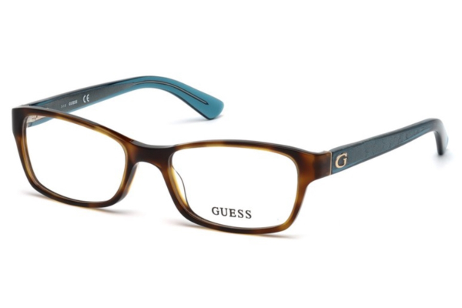 Guess GU 2591 Eyeglasses in 052 - Dark Havana