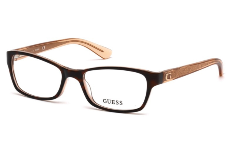 Guess GU 2591 Eyeglasses in 056 - Havana/Other