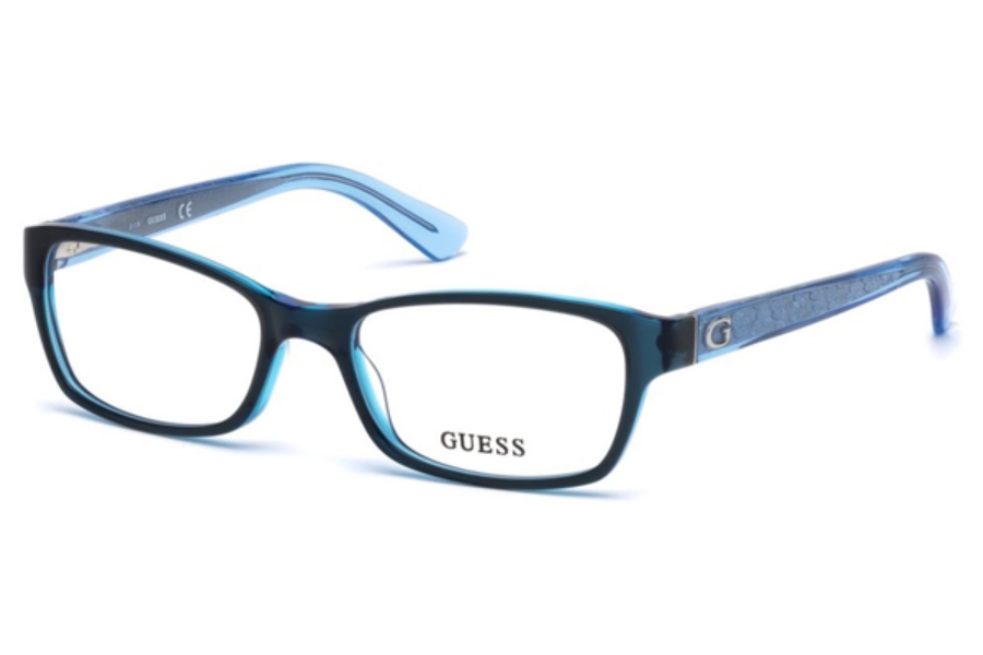 Guess GU 2591 Eyeglasses in 090 - Shiny Blue