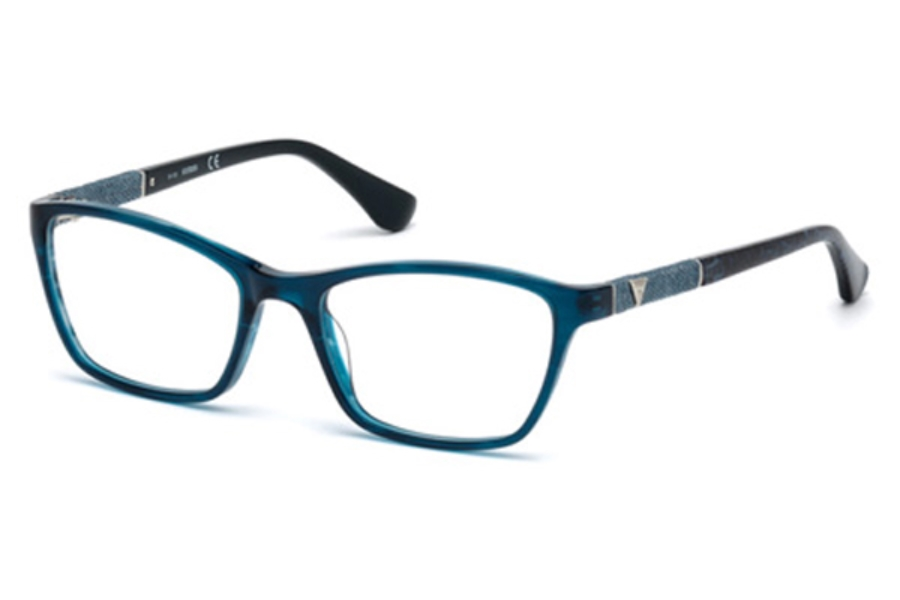 Guess GU 2594 Eyeglasses in 087 - Shiny Turquoise