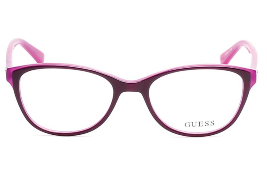 Guess GU 2596 Eyeglasses in 081 - Shiny Violet