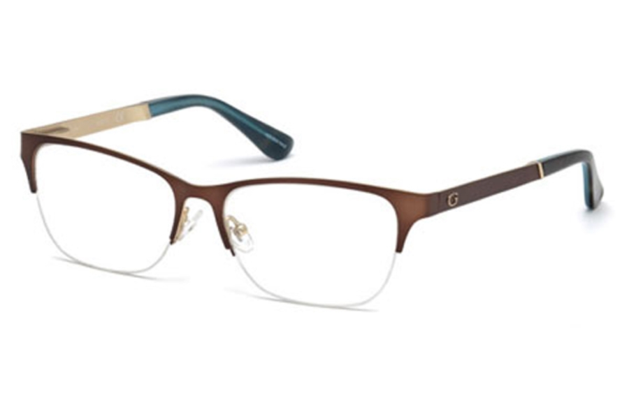 Guess GU 2627 Eyeglasses in 049 - Matte Dark Brown