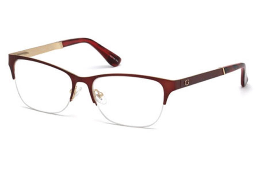 Guess GU 2627 Eyeglasses in 070 - Matte Bordeaux