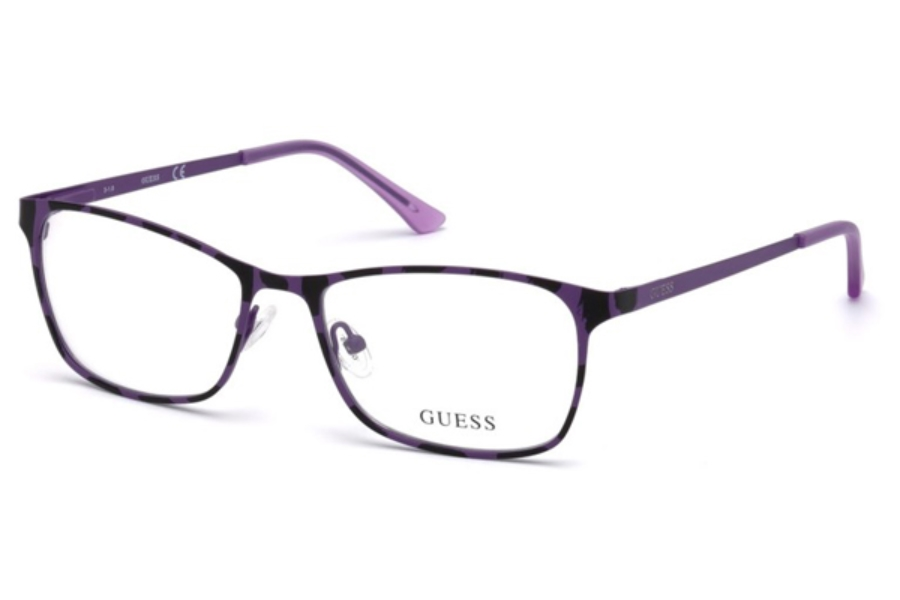 Guess GU 3012 Eyeglasses in 082 - Matte Violet