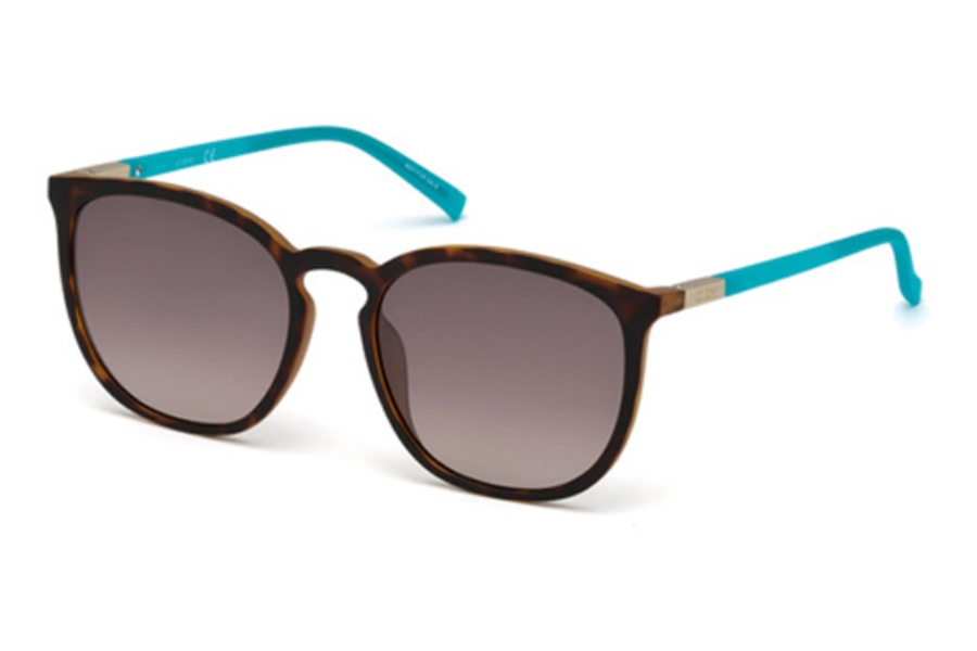 Guess GU 3020 Sunglasses in 52F - Dark Havana / Gradient Brown