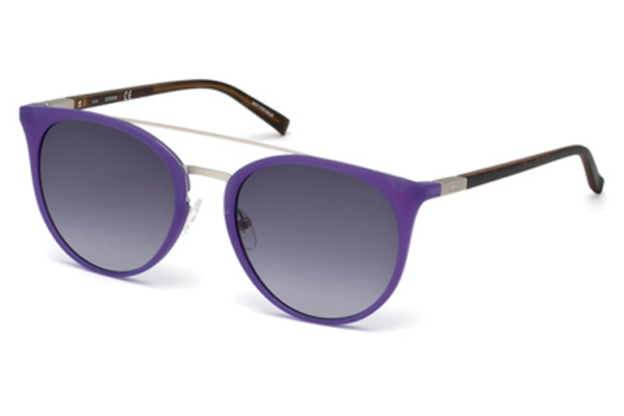 Guess GU 3021 Sunglasses in 82B - Matte Violet / Gradient Smoke