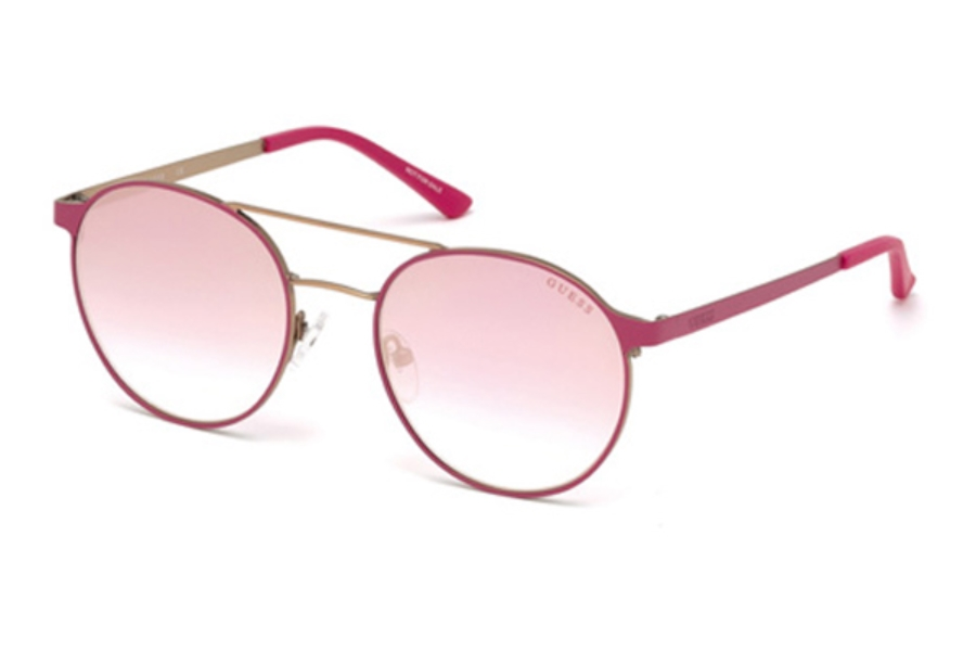 Guess GU 3023 Sunglasses in 74U - Pink /Other / Bordeaux Mirror