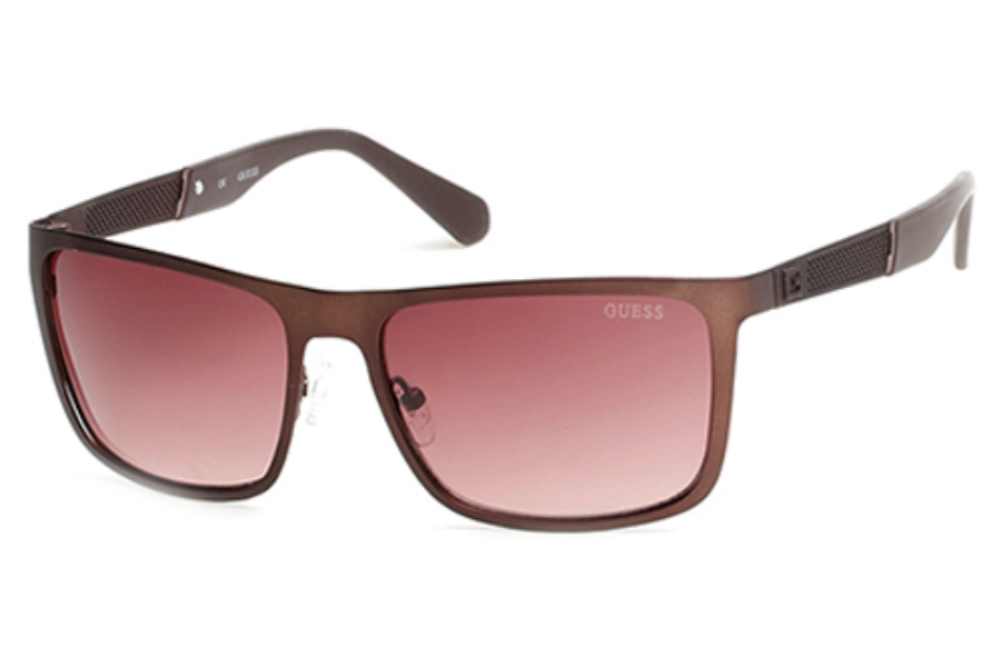 Guess GU 6842 Sunglasses in 50F Dark Brown/Other/Gradient Brown