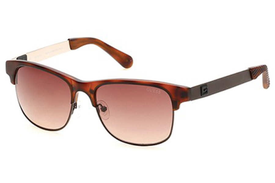Guess GU 6859 Sunglasses in 52F - Dark Havana / Gradient Brown