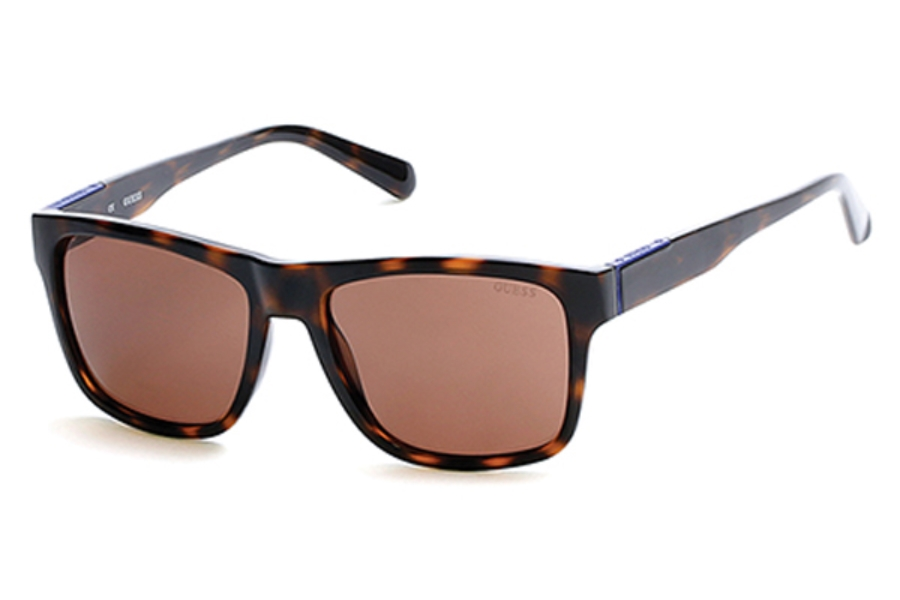 Guess GU 6882 Sunglasses in 52E - Dark Havana / Brown