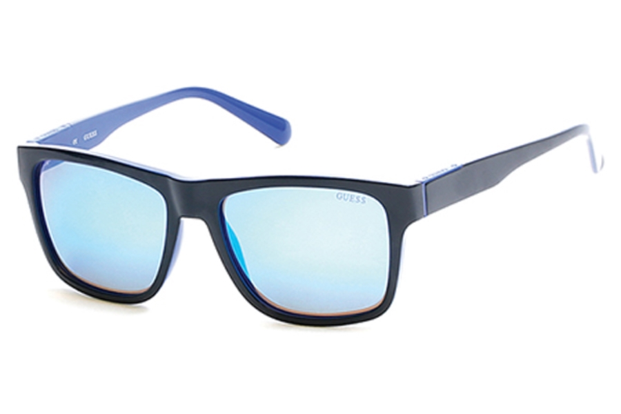 Guess GU 6882 Sunglasses in 92X - Blue/Other / Blu Mirror