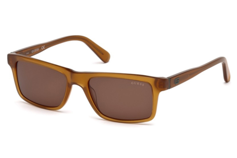 Guess GU 6886 Sunglasses in 45E - Shiny Light Brown / Brown