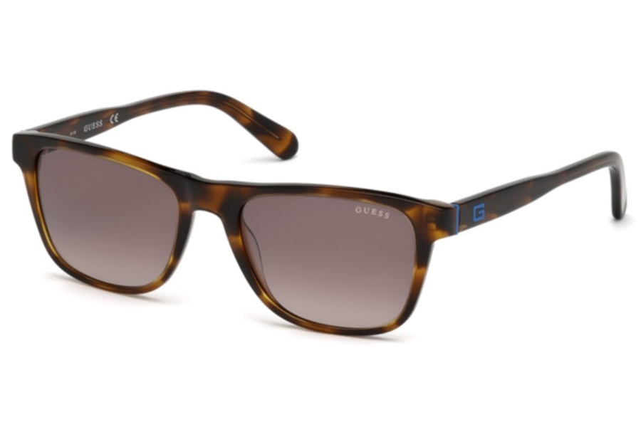 Guess GU 6887 Sunglasses in 62F - Brown Horn / Gradient Brown