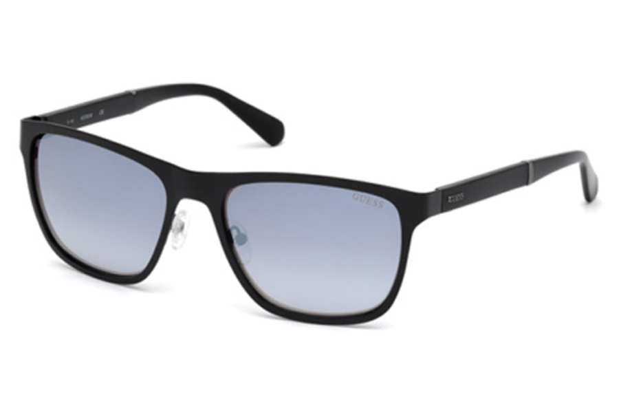 Guess GU 6891 Sunglasses in 02C - Matte Black / Smoke Mirror