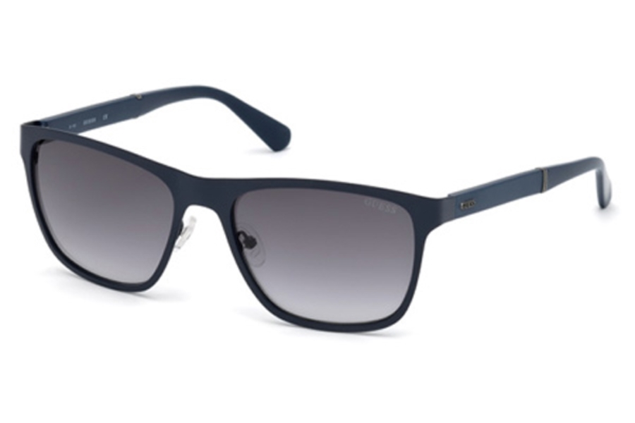Guess GU 6891 Sunglasses in 91X - Matte Blue / Blu Mirror