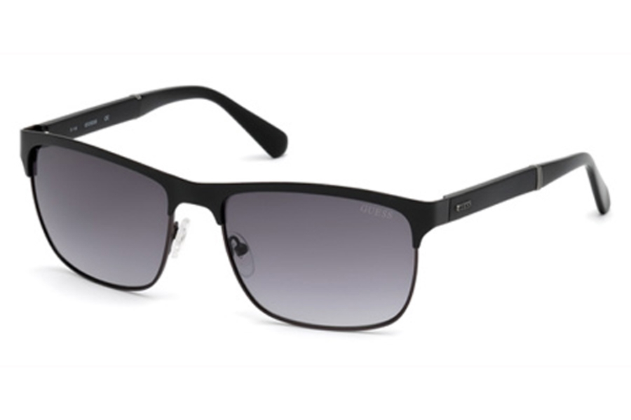 Guess GU 6892 Sunglasses in 02B - Matte Black / Gradient Smoke