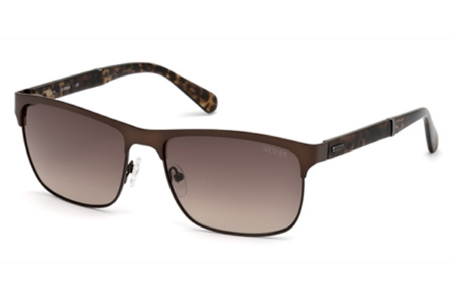 Guess GU 6892 Sunglasses in 49G - Matte Dark Brown / Brown Mirror
