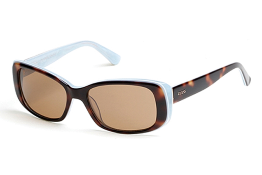 Guess GU 7408 Sunglasses in 52E Dark Havana / Brown