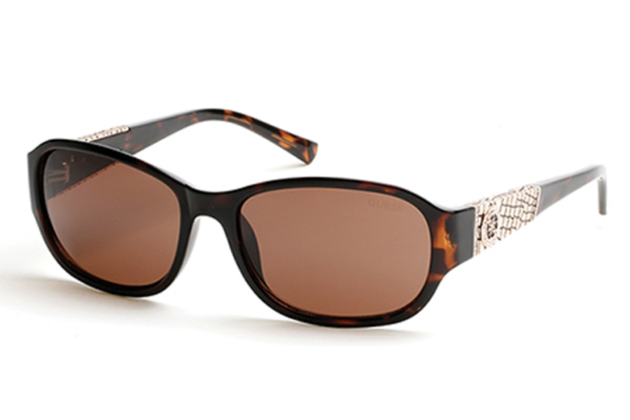 Guess GU 7425 Sunglasses in 52E Dark Havana / Brown