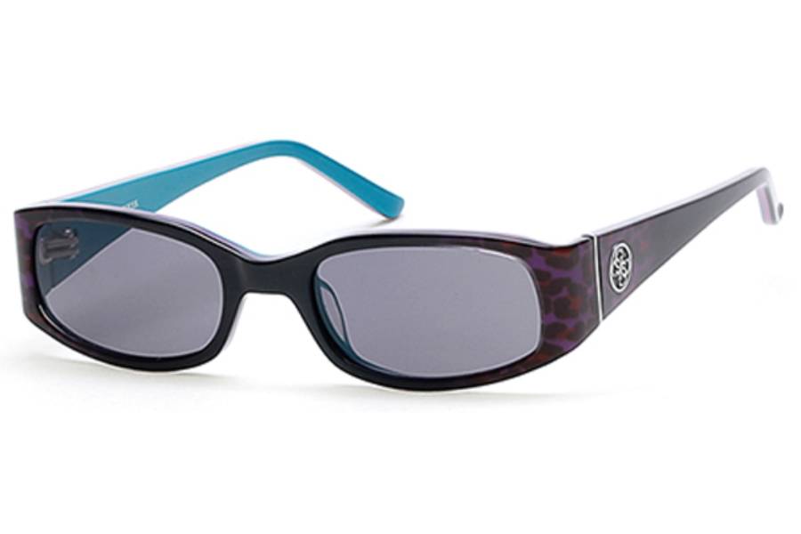 Guess GU 7435 Sunglasses in 83A - Violet/Other / Smoke