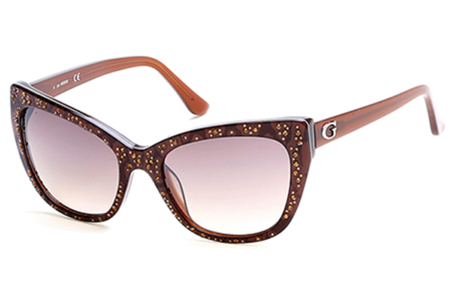 Guess GU 7438 Sunglasses in 50F - Dark Brown/Other / Gradient Brown