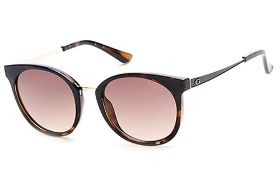 Guess GU 7459 Sunglasses in 52F - Dark Havana / Gradient Brown