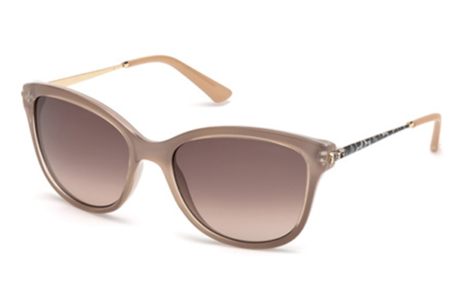 Guess GU 7469 Sunglasses in 57F - Shiny Beige / Gradient Brown