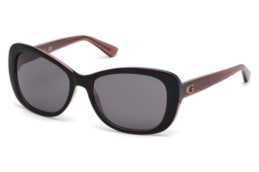 Guess GU 7475 Sunglasses in 05A - Black/Other / Smoke