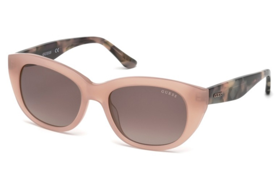 Guess GU 7477 Sunglasses in 72F - Shiny Pink / Gradient Brown