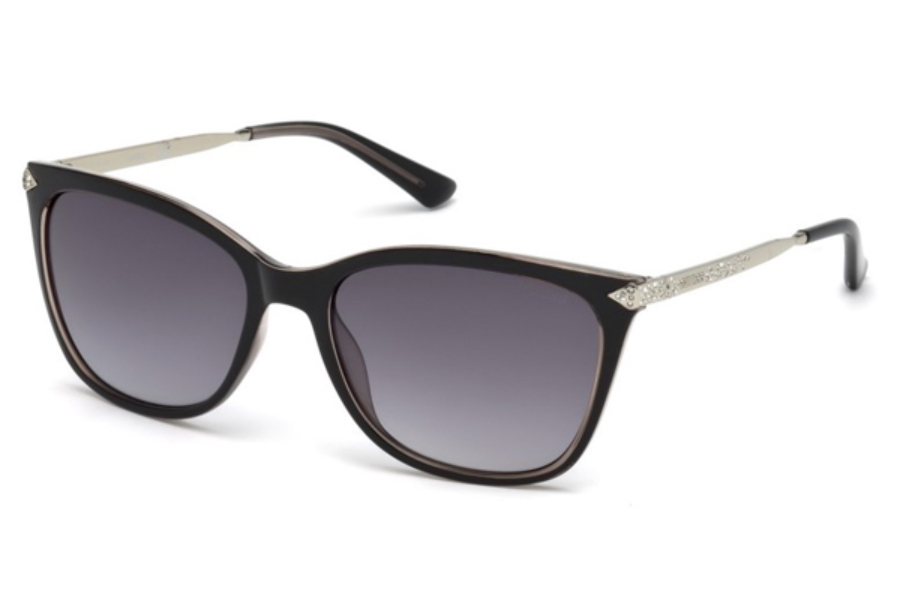 Guess GU 7483-S Sunglasses in 05B - Black/Other / Gradient Smoke