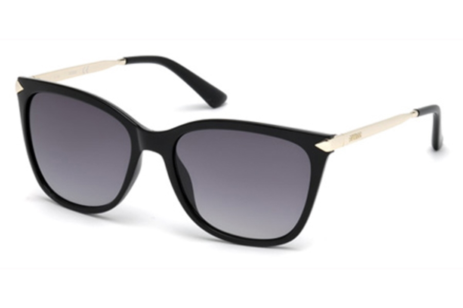 Guess GU 7483 Sunglasses in 01B - Shiny Black / Gradient Smoke