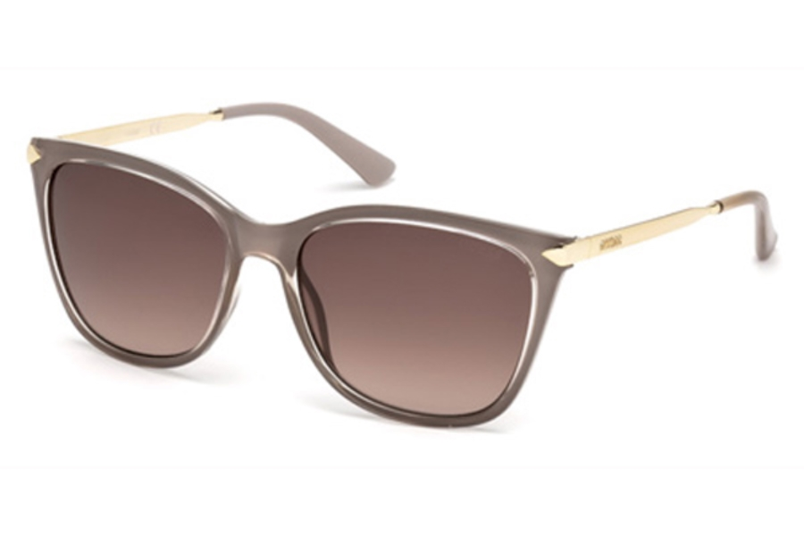 Guess GU 7483 Sunglasses in 57F - Shiny Beige / Gradient Brown