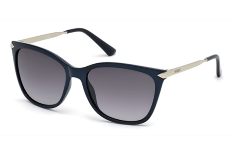 Guess GU 7483 Sunglasses in 90B - Shiny Blue / Gradient Smoke